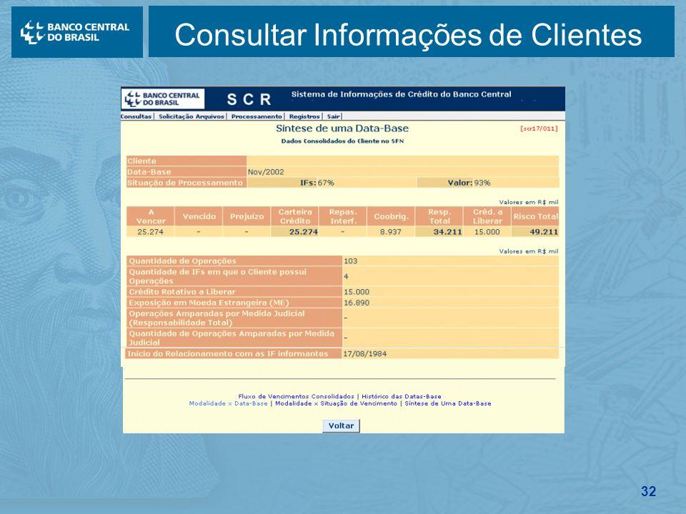 32 Consultar Informações de Clientes