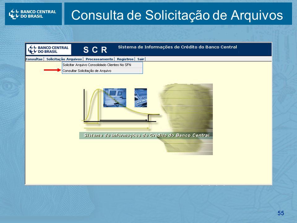 55 Consulta de Solicitação de Arquivos