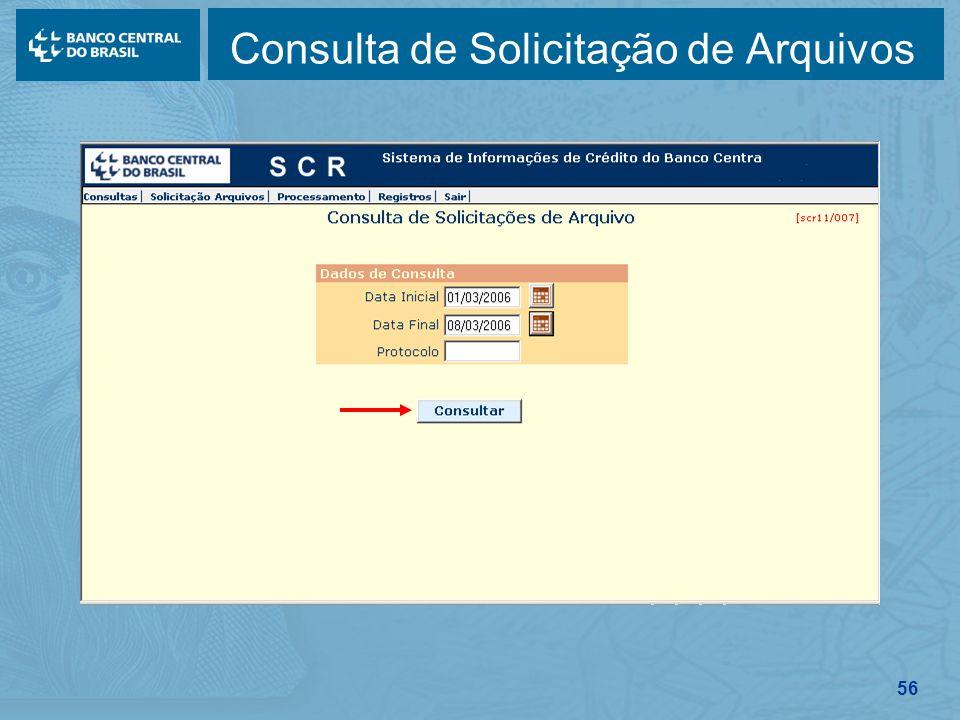 56 Consulta de Solicitação de Arquivos