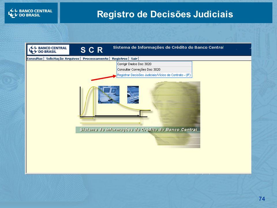 74 Registro de Decisões Judiciais