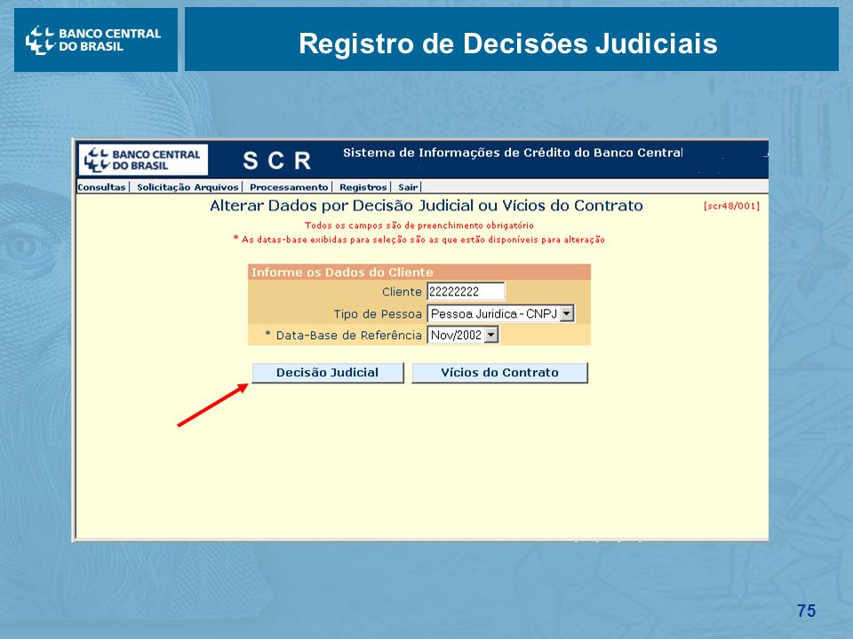 75 Registro de Decisões Judiciais