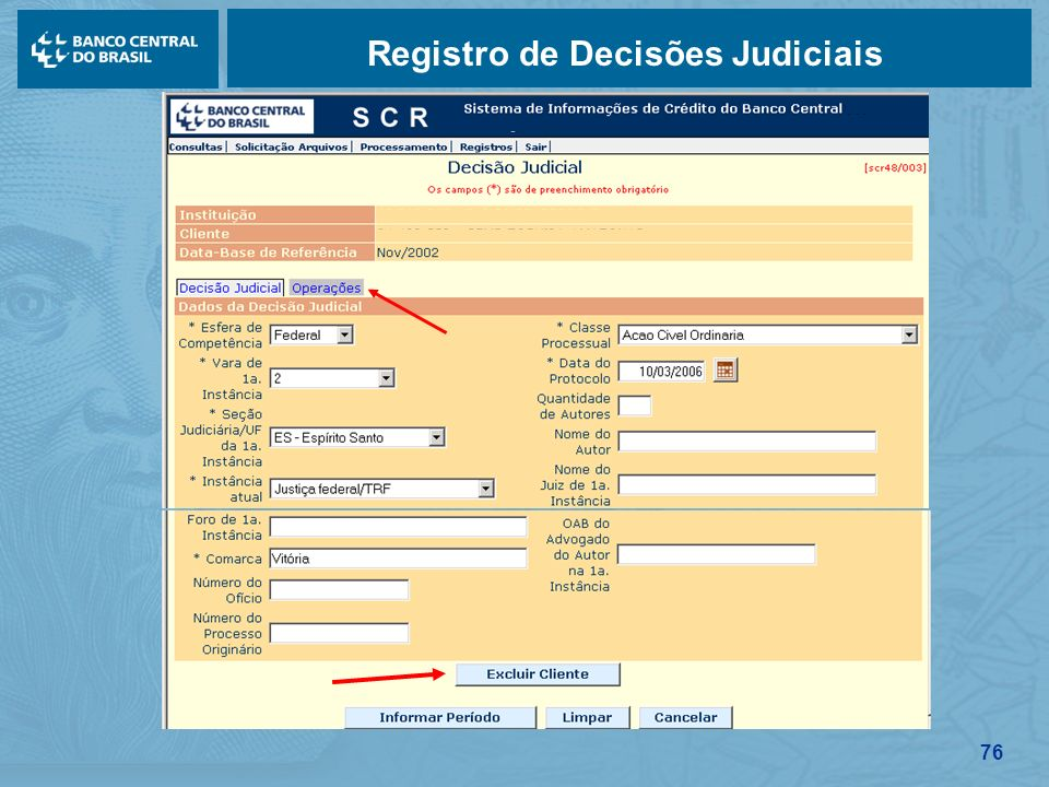 76 Registro de Decisões Judiciais