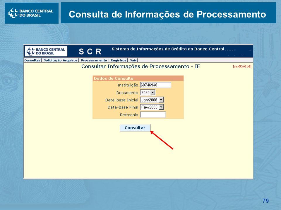 79 Consulta de Informações de Processamento