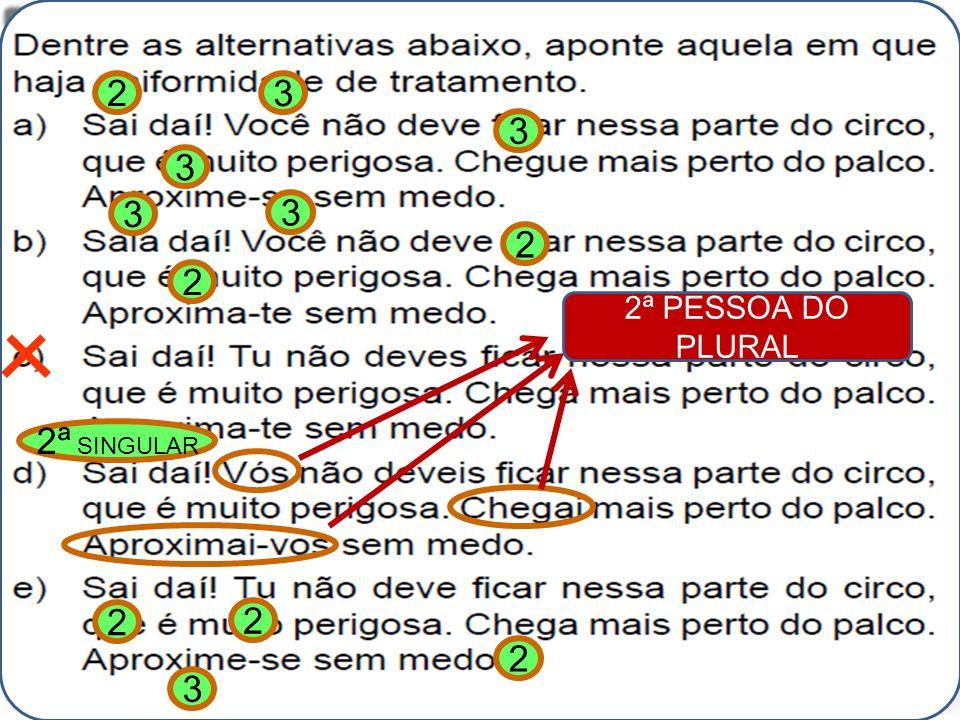 Alexandre Pitta 23 3 3 3 3 2 2 2ª SINGULAR 2ª PESSOA DO PLURAL 2 2 2 3