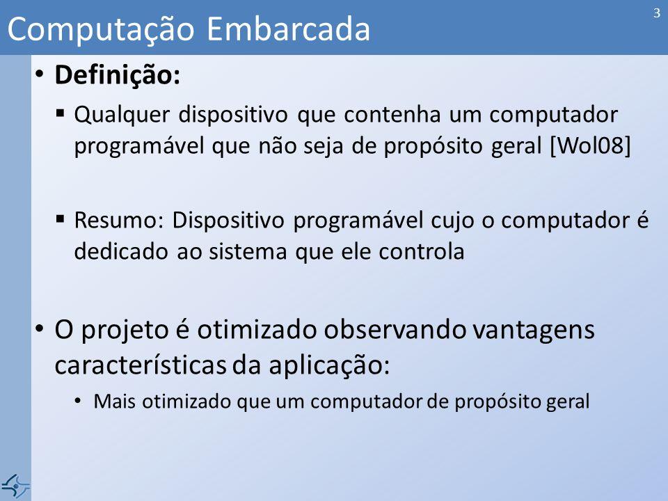 PROJETO ARQUITETURA HW e SW separados Componentes de HW CPUs, memórias, periféricos, etc.