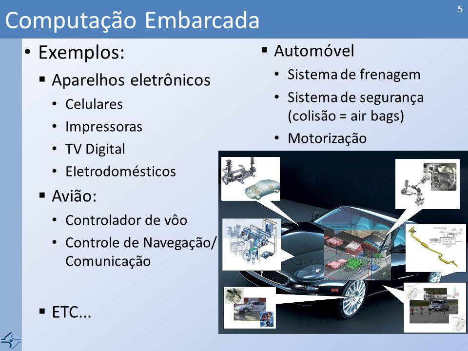 Exemplo básico Computação Embarcada 4 CPU mem input output analog embedded computer © 2008 Wayne Wolf