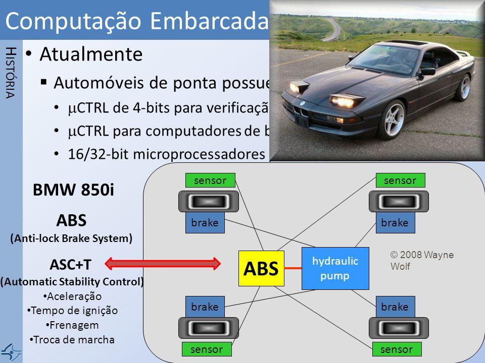 Atualmente Automóveis de ponta possuem mais de 100 PROC CTRL de 4-bits para verificação do uso do cinto de segurança CTRL para computadores de bordo 1