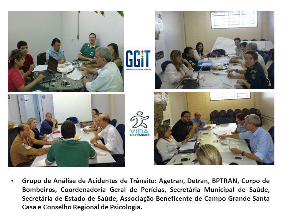 Grupo de Análise de Acidentes de Trânsito: Agetran, Detran, BPTRAN, Corpo de Bombeiros, Coordenadoria Geral de Perícias, Secretária Municipal de Saúde