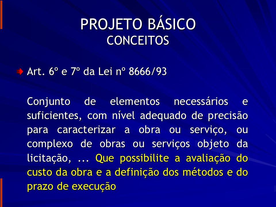 PROJETO BÁSICO RESPONSABILIDADE DO PROJETISTA Art.