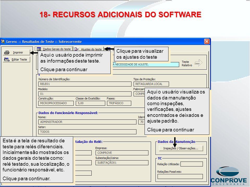 Aqui o usuário pode imprimir as informações deste teste. Clique para continuar Aqui o usuário pode imprimir as informações deste teste. Clique para co