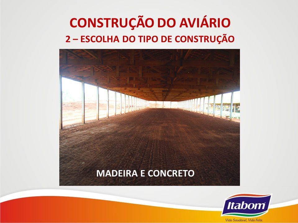 MADEIRA E CONCRETO CONSTRUÇÃO DO AVIÁRIO 2 – ESCOLHA DO TIPO DE CONSTRUÇÃO