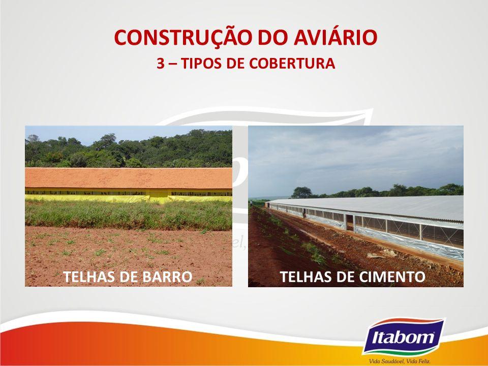 TELHAS DE BARRO CONSTRUÇÃO DO AVIÁRIO 3 – TIPOS DE COBERTURA TELHAS DE CIMENTO