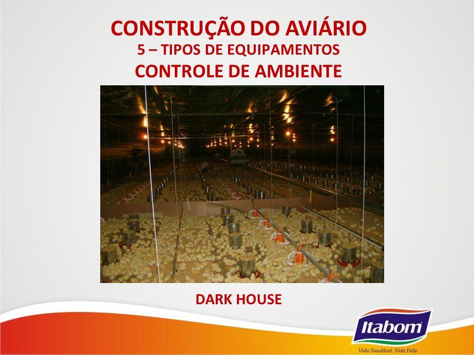 DARK HOUSE 5 – TIPOS DE EQUIPAMENTOS CONTROLE DE AMBIENTE CONSTRUÇÃO DO AVIÁRIO