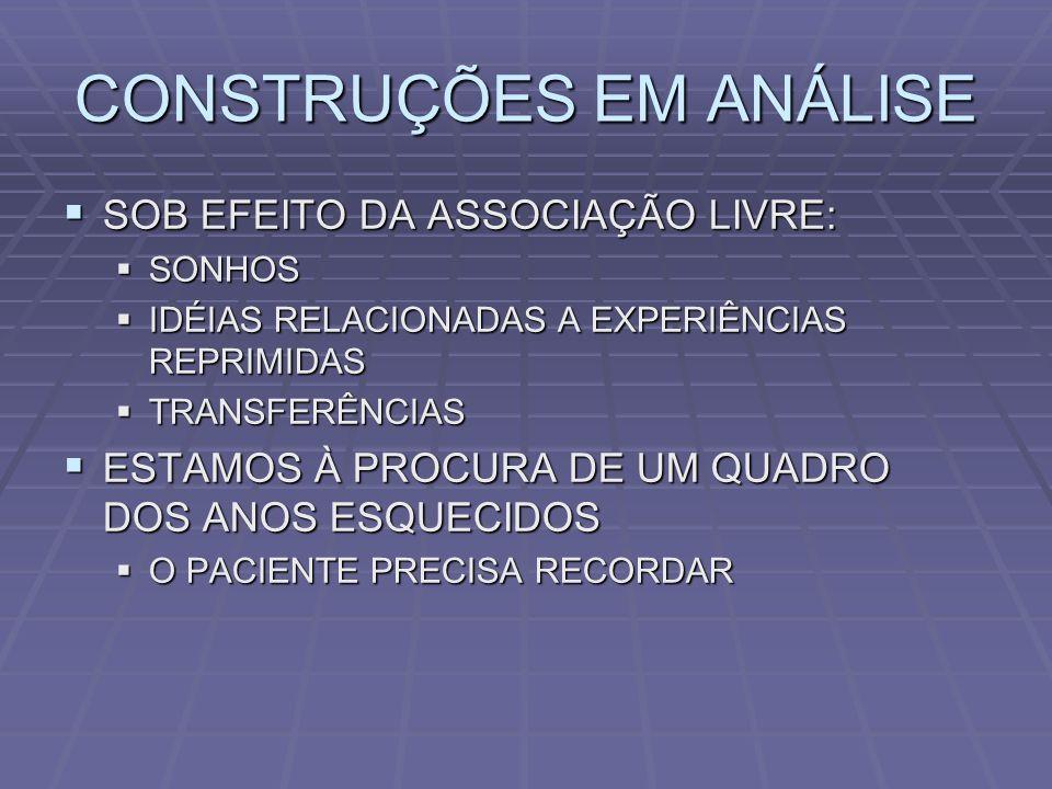 CONSTRUÇÕES EM ANÁLISE QUAL É A TAREFA DO ANALISTA.