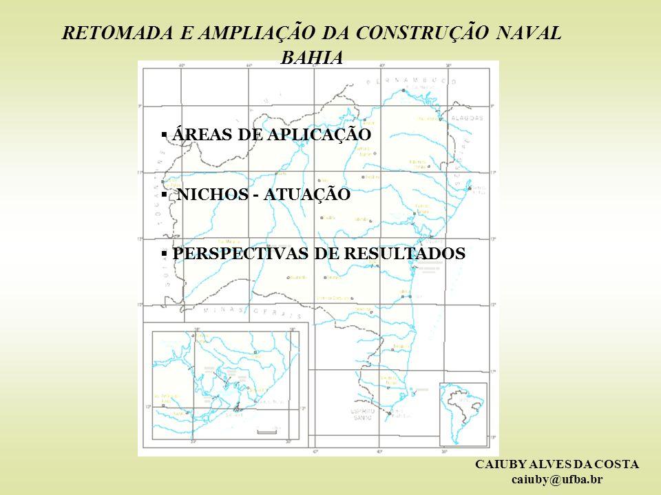CAIUBY ALVES DA COSTA caiuby@ufba.br A CONSTRUÇÃO NAVAL NO BRASIL E NO MUNDO HISTÓRICO E PANORAMA ATUAL ESTAGNAÇÃO RETOMADA REDISTRIBUIÇÃO DE ATIVIDADES