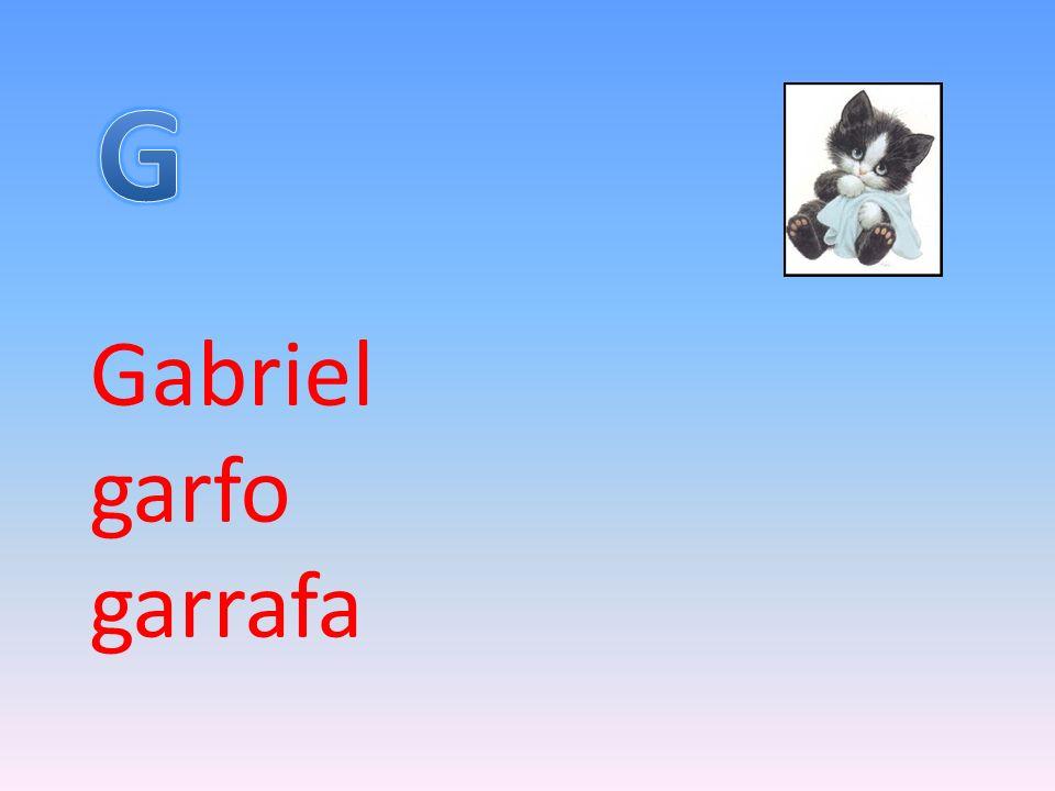Gabriel garfo garrafa