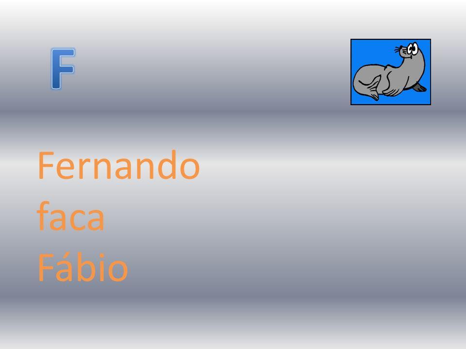 Fernando faca Fábio