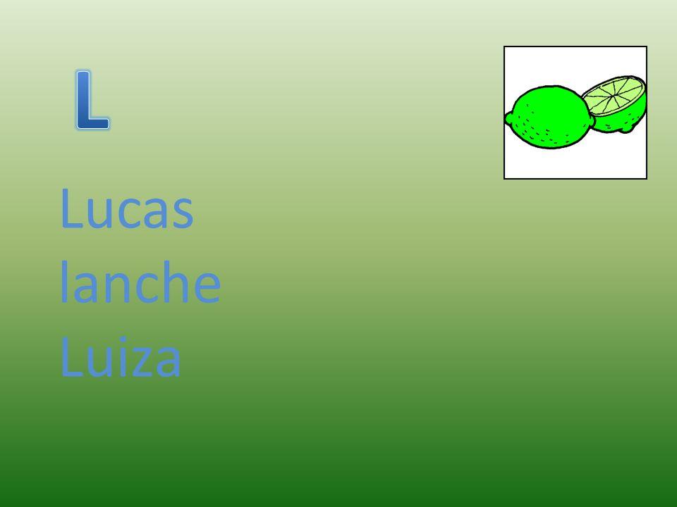Lucas lanche Luiza
