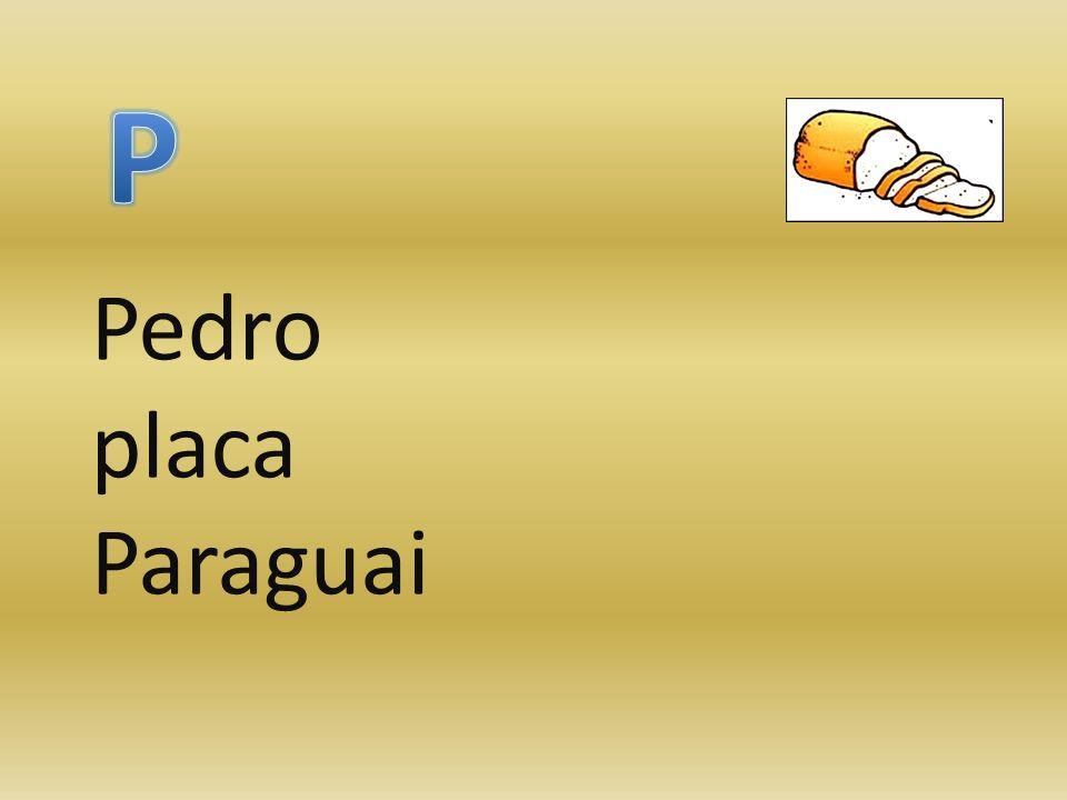 Pedro placa Paraguai