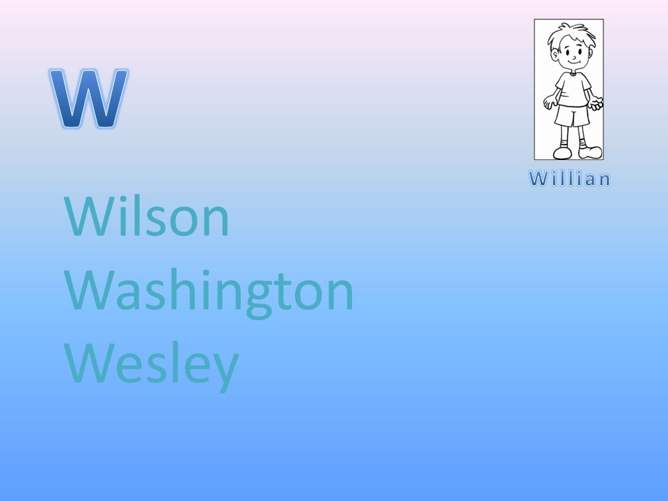 Wilson Washington Wesley
