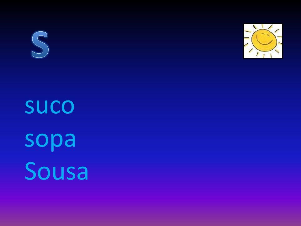 suco sopa Sousa