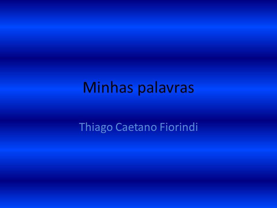 Minhas palavras Thiago Caetano Fiorindi