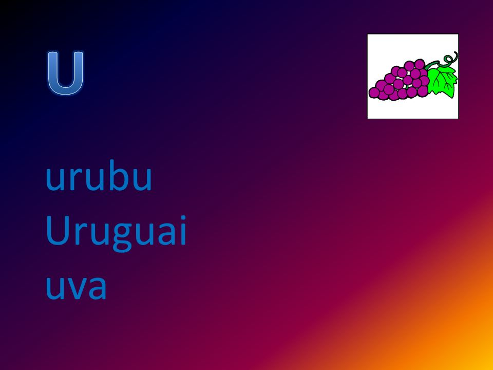 urubu Uruguai uva