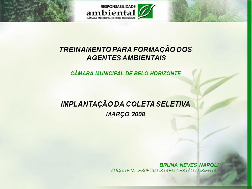 10/04/2008 – Lançamento oficial do Programa de Coleta Seletiva na Câmara Local: Plenário Amynthas de Barros Horário: manhã Palestras e outros eventos, inclusive apresentação dos AGENTES AMBIENTAIS à Casa.