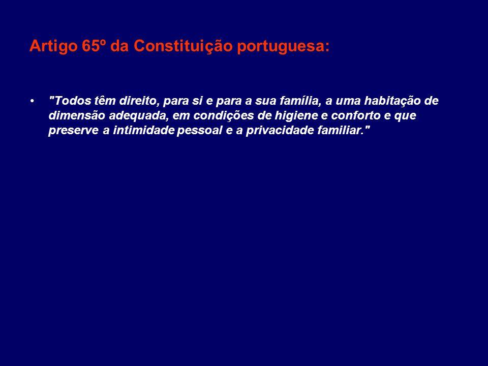 Artigo 65º da Constituição portuguesa: