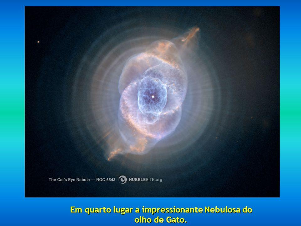 Em terceiro lugar nos aparece a Nebulosa do Esquimo NGC 2392, situada a 5000 anos-luz.