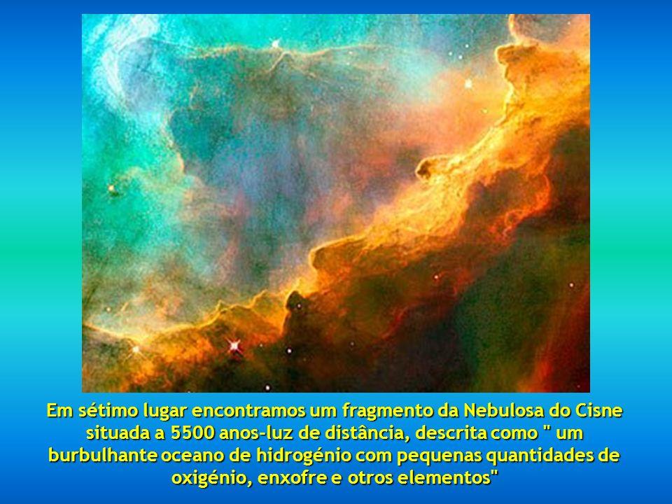 Em sexto lugar temos a Nebulosa do Cone, a 2.5 anos-luz. Em sexto lugar temos a Nebulosa do Cone, a 2.5 anos-luz.
