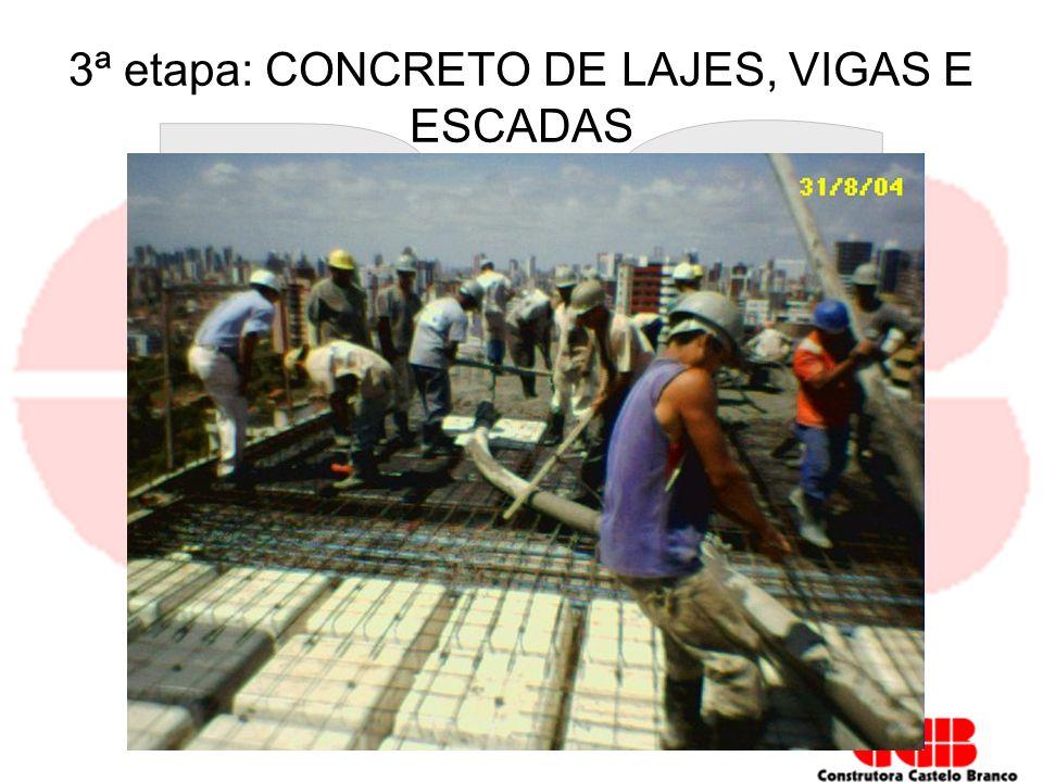 3ª etapa: CONCRETO DE LAJES, VIGAS E ESCADAS