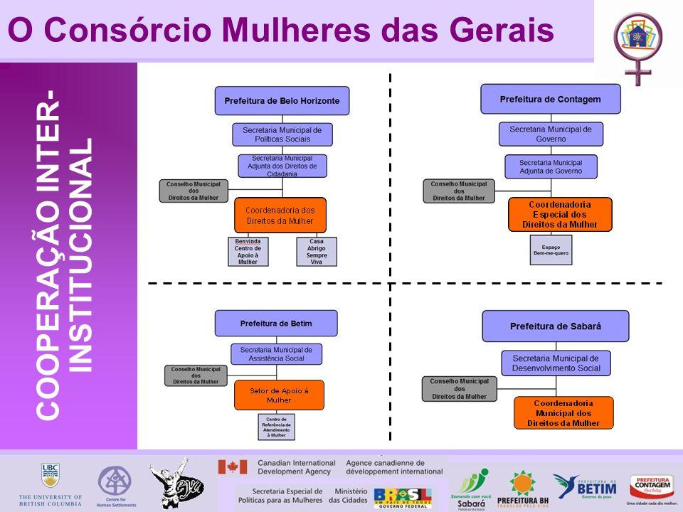 O Consórcio Mulheres das Gerais COOPERAÇÃO INTER- INSTITUCIONAL