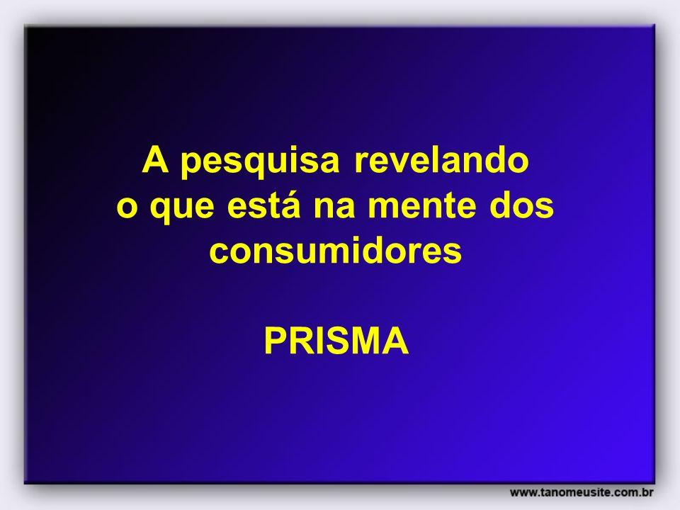 A pesquisa revelando o que está na mente dos consumidores PRISMA