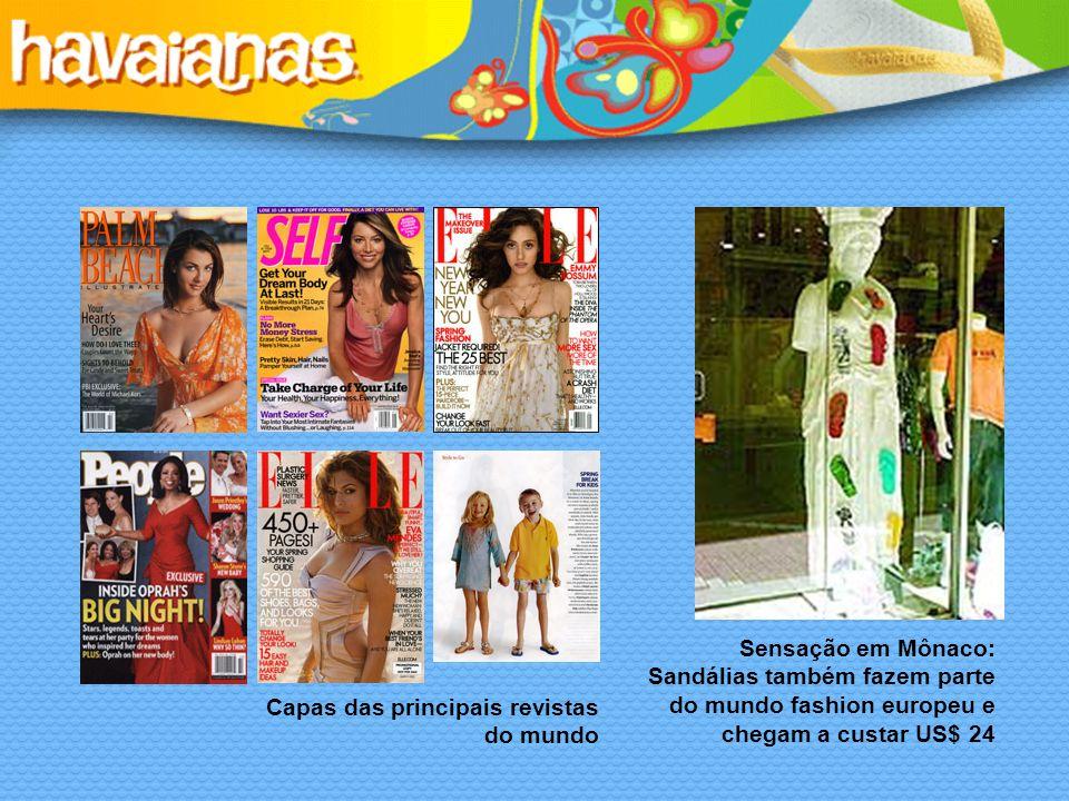 Sensação em Mônaco: Sandálias também fazem parte do mundo fashion europeu e chegam a custar US$ 24 Capas das principais revistas do mundo
