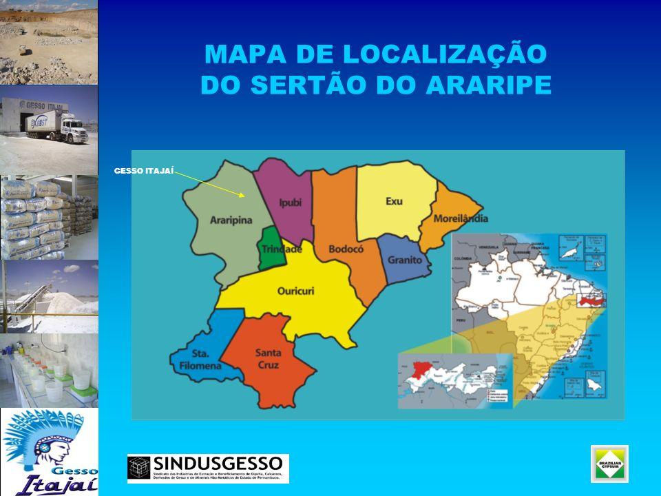 MAPA DE LOCALIZAÇÃO DO SERTÃO DO ARARIPE GESSO ITAJAÍ