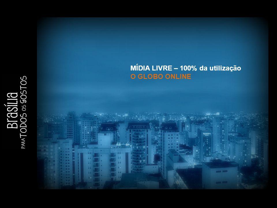 MÍDIA LIVRE – 100% da utilização O GLOBO ONLINE