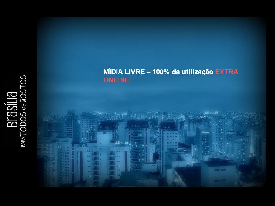 MÍDIA LIVRE – 100% da utilização EXTRA ONLINE