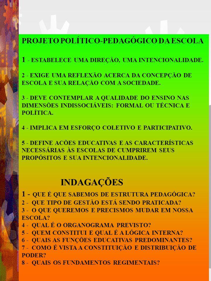 PRINCÍPIOS NORTEADORES DO PROJETO PEDAGÓGICO LEI nº 9.394/, art. 3º I. igualdade de condições para acesso e permanência na escola; II. liberdade de ap