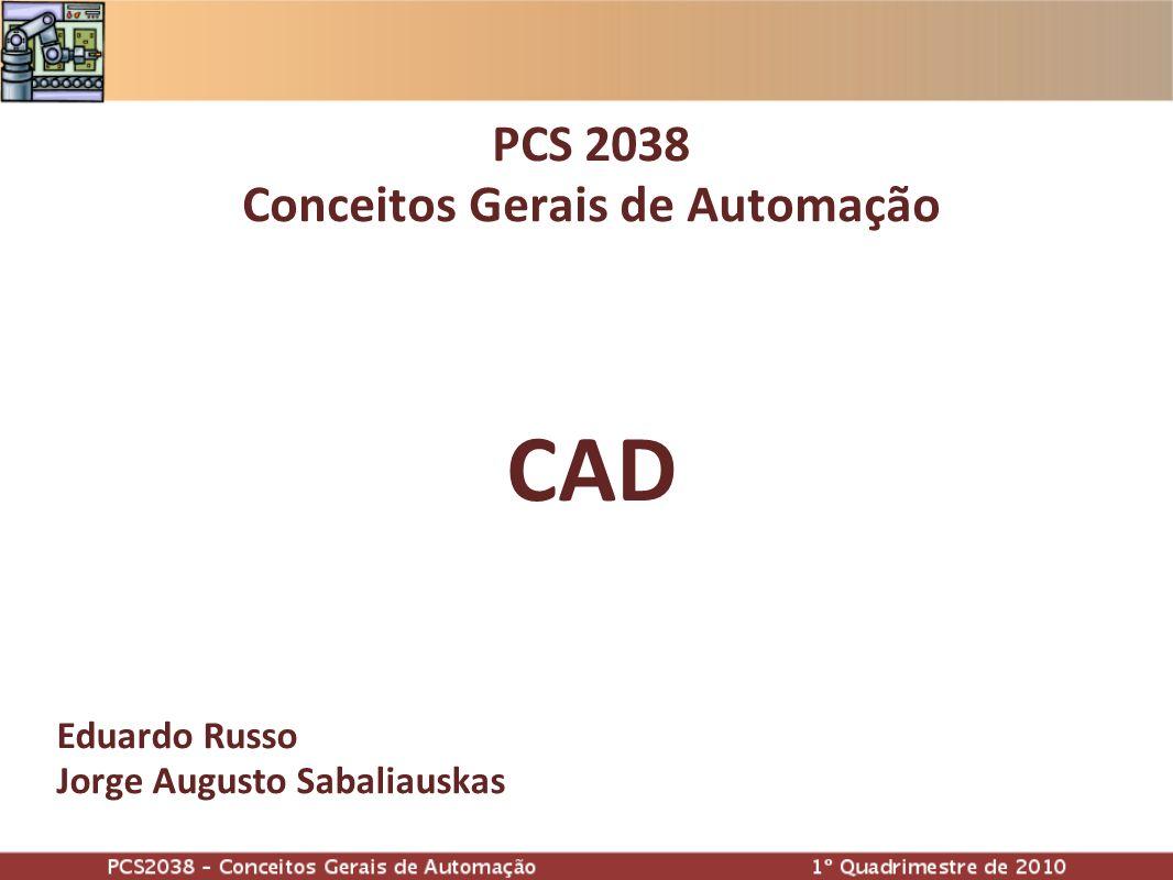 Eduardo Russo Jorge Augusto Sabaliauskas PCS 2038 Conceitos Gerais de Automação CAD