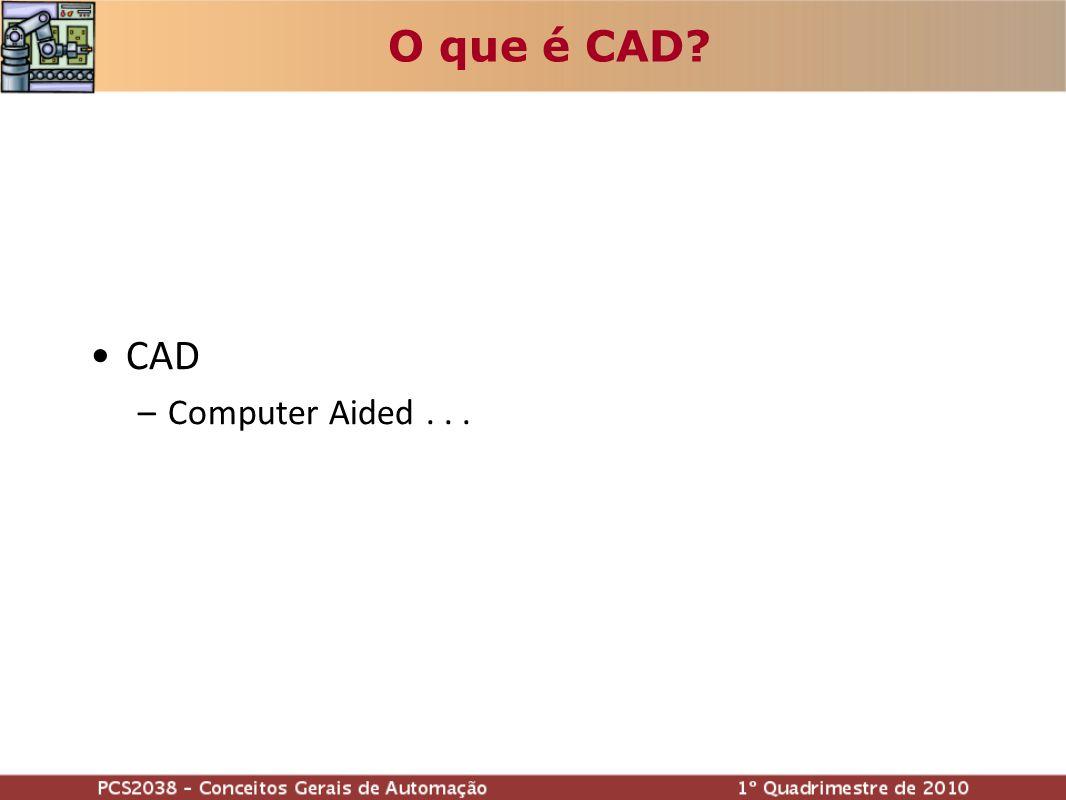 O que é CAD? CAD –C–Computer Aided...