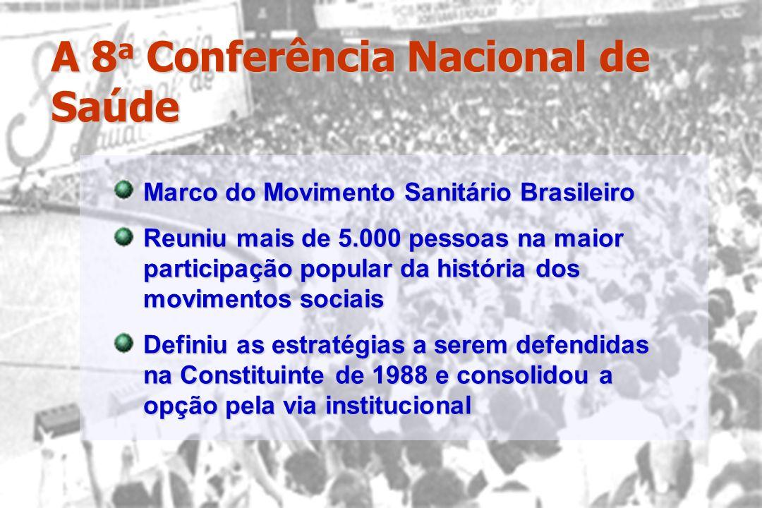 A 8 a Conferência Nacional de Saúde Marco do Movimento Sanitário Brasileiro Reuniu mais de 5.000 pessoas na maior participação popular da história dos