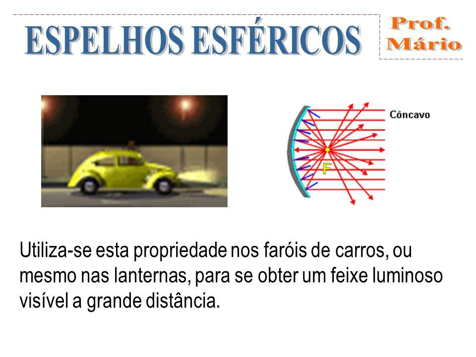 Regra 3: Raio que incide passando pela direção do centro de curvatura, reflete sobre si mesmo.