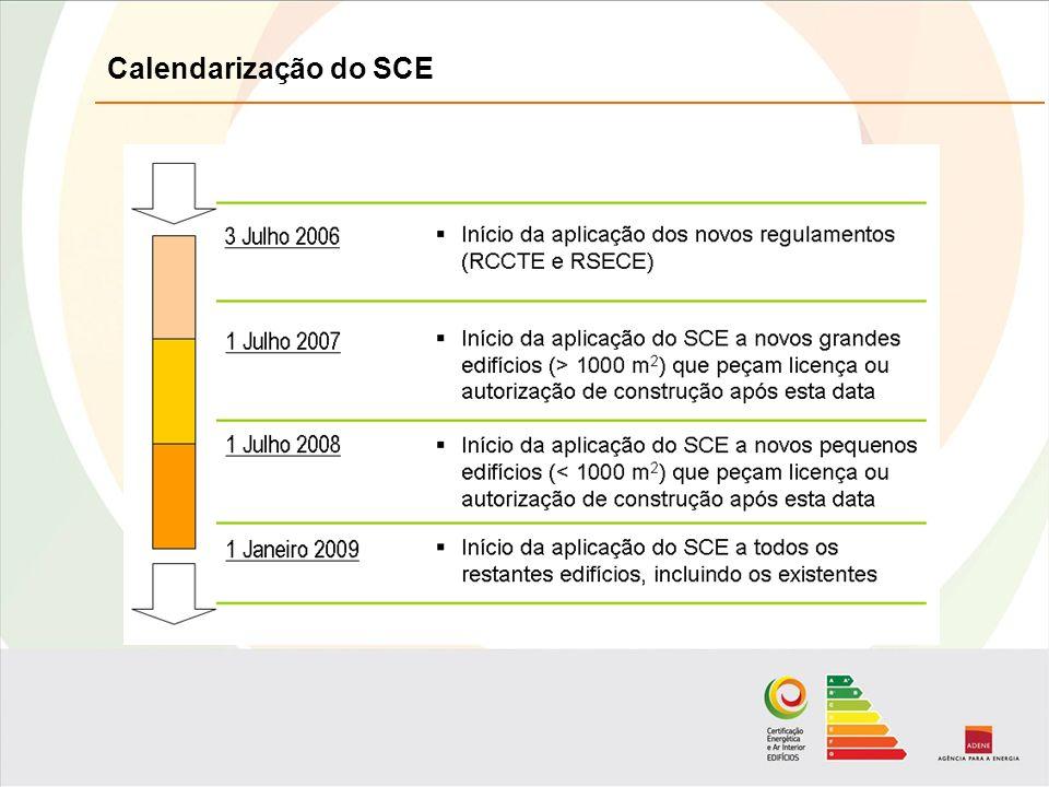 Calendarização do SCE