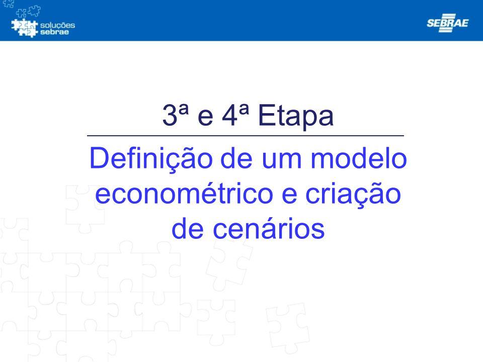 3ª e 4ª Etapa Definição de um modelo econométrico e criação de cenários