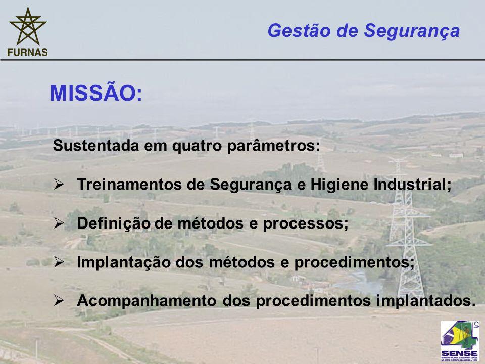 Gestão de Segurança Sustentada em quatro parâmetros: Treinamentos de Segurança e Higiene Industrial; Definição de métodos e processos; Implantação dos