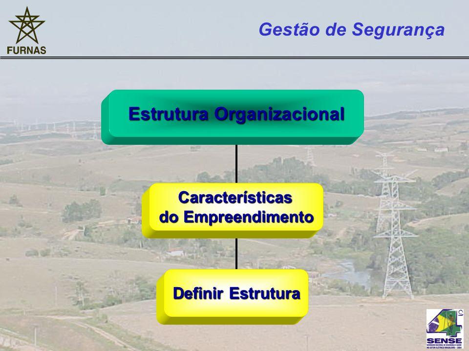 Estrutura Organizacional Características Características do Empreendimento Definir Estrutura Gestão de Segurança