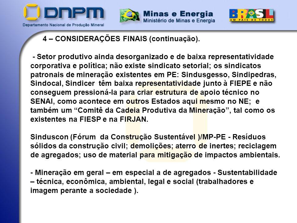 4 – CONSIDERAÇÕES FINAIS (continuação).