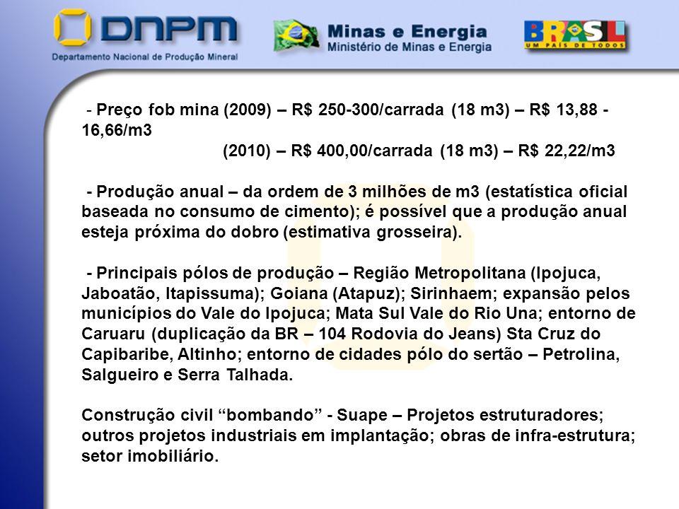 SUPERINTENDENCIA DE PERNAMBUCO - DNPM/PE Paulo Jaime Souza Alheiros – Geólogo - Superintendente ESTRADA DO ARRAIAL 3824 - CASA AMARELA 52070-230 – RECIFE – PE FONE: 81.