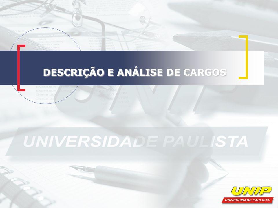 ALGUNS CONCEITOS BÁSICOS Função: é o conjunto das atribuições destinado a cada colaborador na organização Cargo: é o conjunto das funções semelhantes à natureza das atribuições executadas e especificações exigidas.